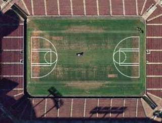 Illustration for article titled Overexcited Super Bowl Grounds Crew Paints Wrong Lines On Field