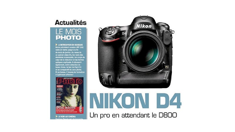 Illustration for article titled Will the Nikon D4 Soon Become the Latest and Greatest DSLR?