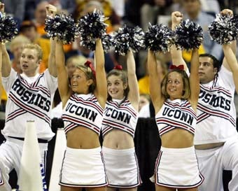 "Illustration for article titled UConn Replaces Cheerleaders With Less Athletic ""Spirit Squad"""