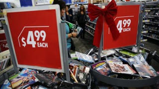 Black Friday shoppers looks for deals at a Best Buy store on Nov. 29, 2013, in Naples, Fla., that opened its doors at 6 p.m. on Thanksgiving Day this year. Spencer Platt