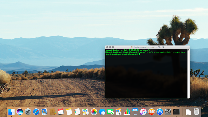 Illustration for article titled Instantly Reset Your Mac's Dock to Default with a Terminal Command