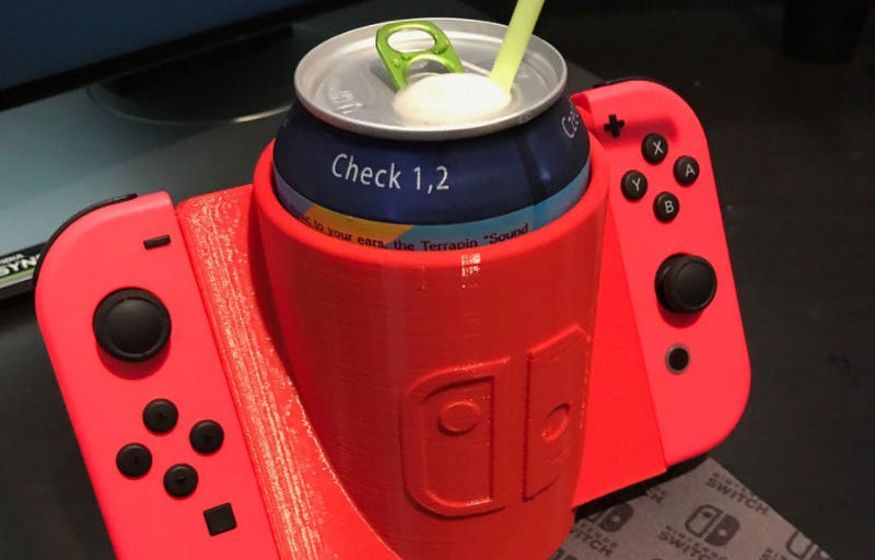 Illustration for article titled Look At This Nintendo Switch Cup Holder