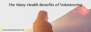 health benefits of volunteering www.courteouscom.com