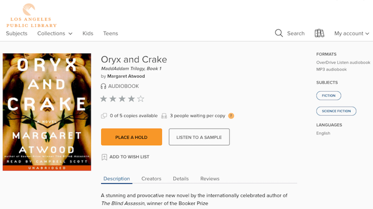 Reminder: You Can Get Free Digital Audiobooks From Your Library
