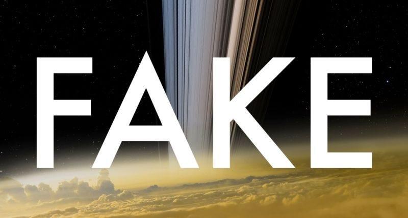 """Illustration for article titled Esta foto que afirma ser la """"última imagen de Cassini"""" es totalmente falsa"""