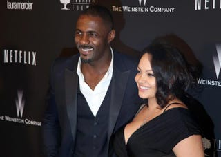 Idris Elba and his girlfriend, makeup artist Naiyana Garth, attend 2014 Golden Globes After Party at the Beverly Hilton Jan. 12, 2014, in California. Ari Perilstein/Getty Images for the Weinstein Co.