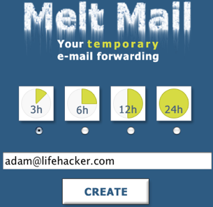 melt mail is another quick disposable email service