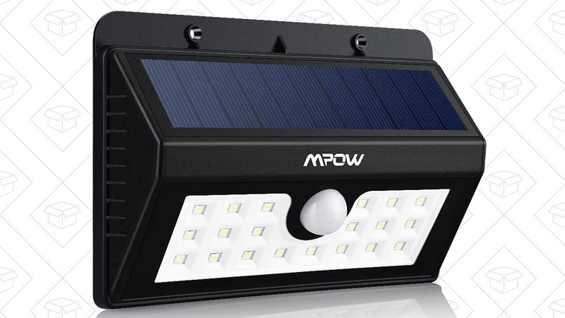 Mpow 20-LED Motion Sensing Solar Light, $16 with code WD25GLH6 | 2-Pack for $30 with code XLTNN8HN