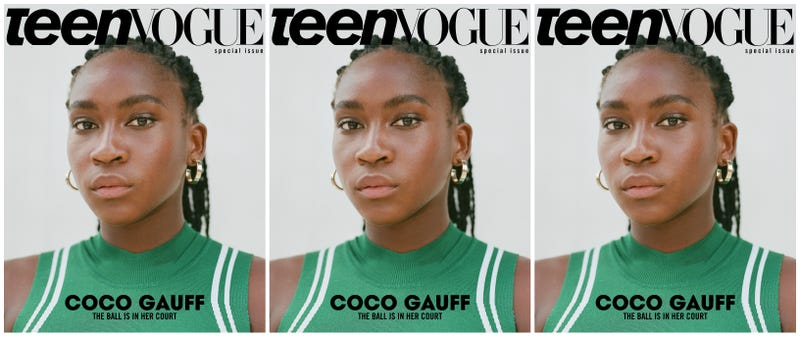 Illustration for article titled Has Coco Gauff Got Next? The 15-Year-Old Tennis Phenom Lands the Cover of Teen Vogue