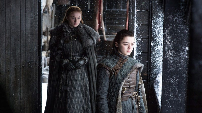 Sansa and Arya. There were never such devoted sisters