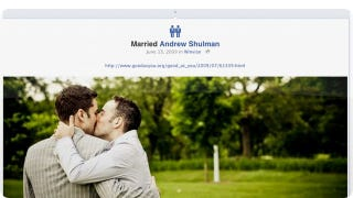 Illustration for article titled Facebook Adds Gay and Lesbian Marriage Icons