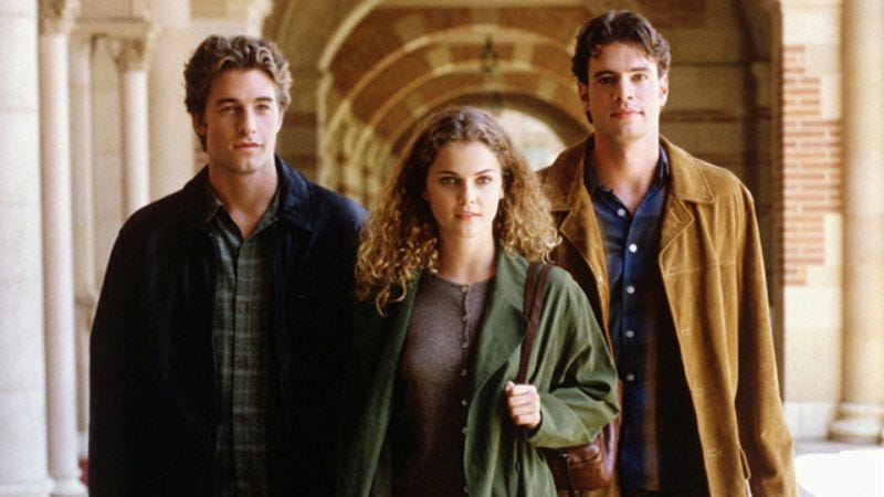 Scott Speedman, Keri Russell, and Scott Foley in Felicity (Photo: The WB)
