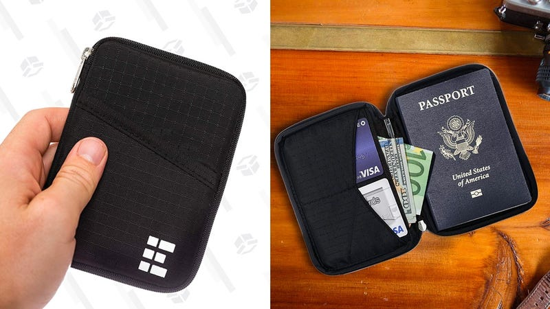 Zero Grid Passport Wallet | $19 | Amazon | Use code P7GOSGWQ