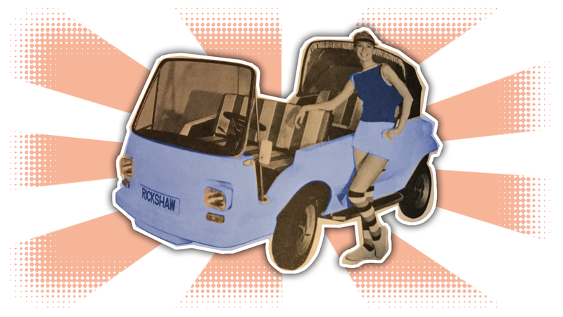 Illustration for article titled Your Crappy, Weird '70s Electric Car Of The Day: The Electraction Rickshaw