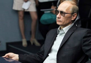 Illustration for article titled Even Putin Looks Displeased With 3D Glasses