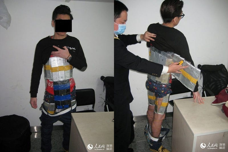 Illustration for article titled Smuggler Caught With 94 iPhones Strapped To His Body