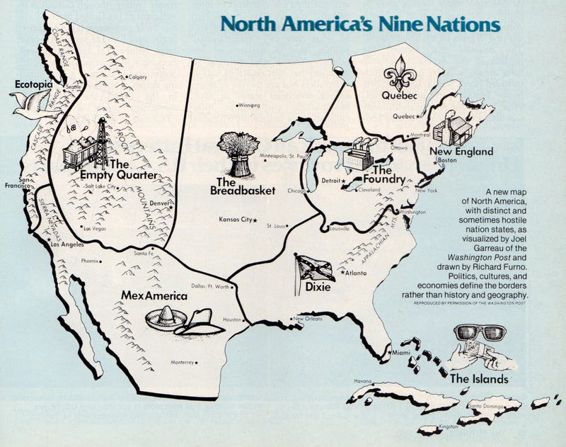 How Would You Redraw North America - Us map popular redrawn states