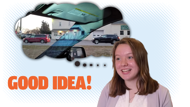 Illustration for article titled 14-Year-Old Inventor Develops Clever Blind Spot Removal Tech