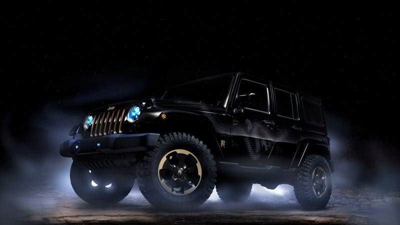 Illustration for article titled Jeep Wrangler Dragon Edition: Just In Time For Halloween