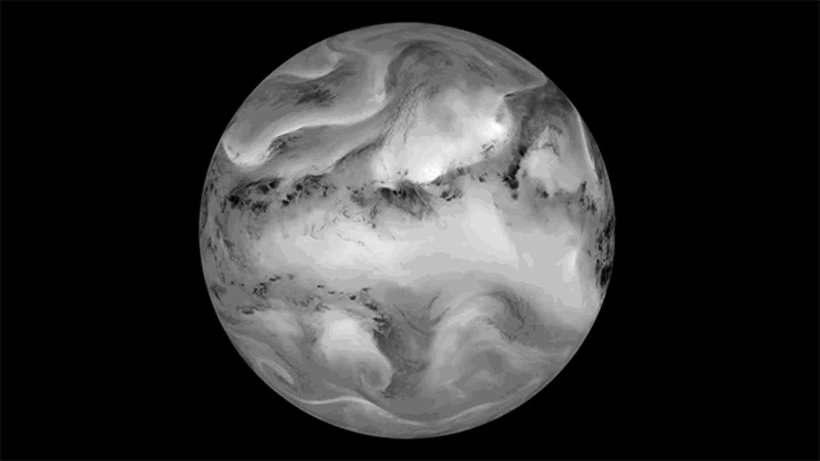La Tierra, vista en infrarrojos, parece un increíble planeta gaseoso