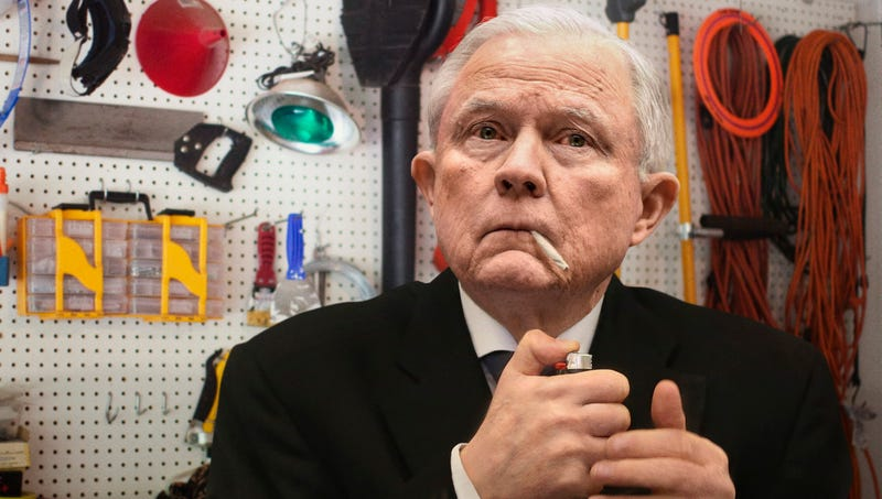 Illustration for article titled Inconsolable Jeff Sessions Tries To Commit Suicide By Smoking Joint