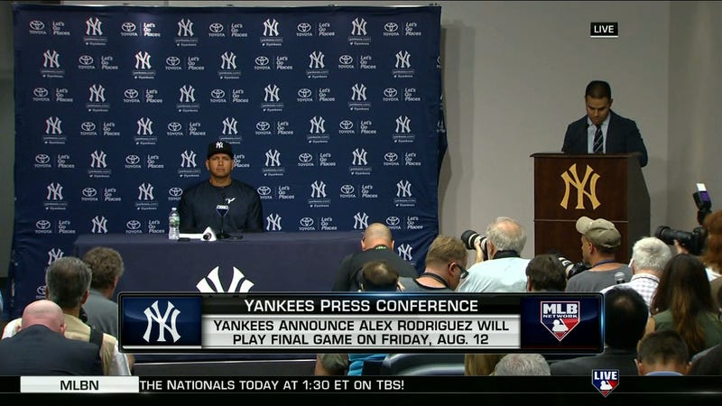 Yankees Release Alex Rodriguez, Announcing His Last Game Is Friday