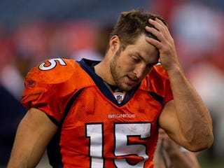 """Illustration for article titled John Elway On Tebow Time: """"It Hasn't Worked Yet"""""""
