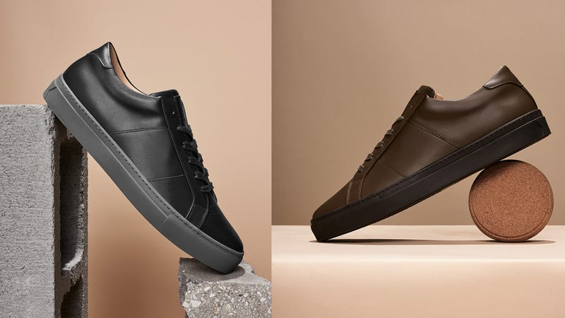 The Royale Duotone, Nero/Grey and Brown/Dark Brown | $179 | Greats
