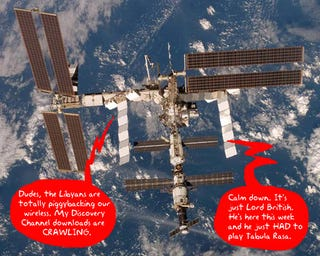 Illustration for article titled Orbiting Aliens Can Leech Internet Access From ISS Thanks to New Wi-Fi Network