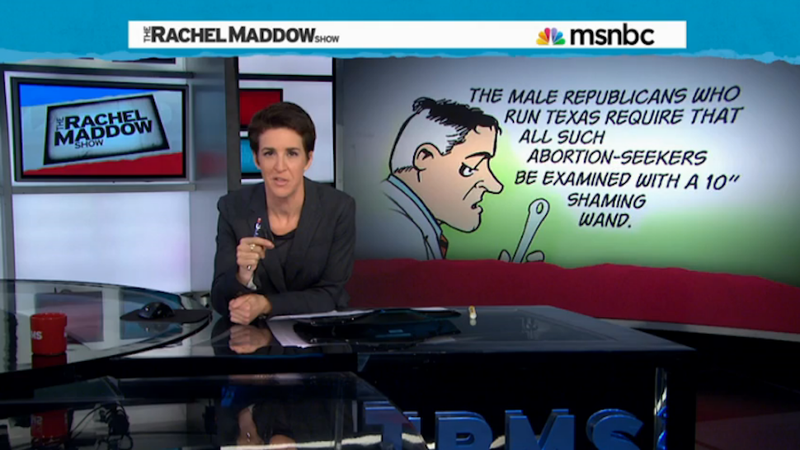 Illustration for article titled Your Girlfriend Rachel Maddow Explores the Attacks on Roe V. Wade