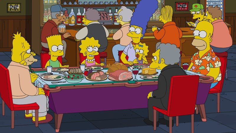 Illustration for article titled This Christmas, The Simpsons aims for heartwarming, lands on forgettable