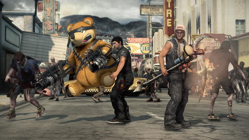 Illustration for article titled Say Hello to Dead Rising 3's Craziest Weapons (and Co-Op Buddy)