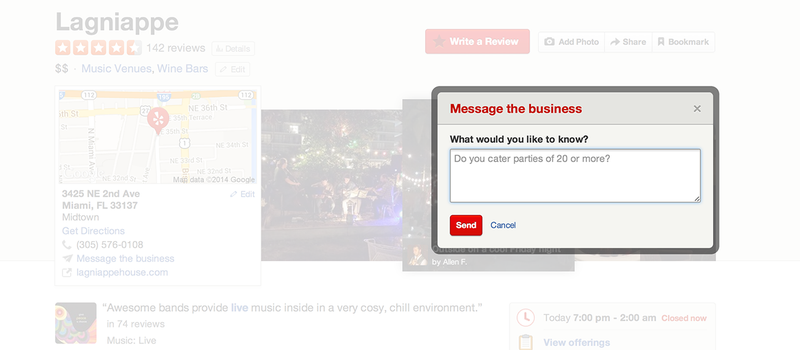 Illustration for article titled Yelp Now Lets You Message Your Grievances Directly to Businesses