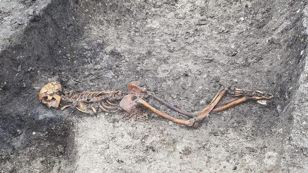 Railway Construction Exposes Iron Age 'Murder Mystery,  Among Other Finds