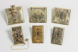 Illustration for article titled DIY Steampunk Light Switch Plates