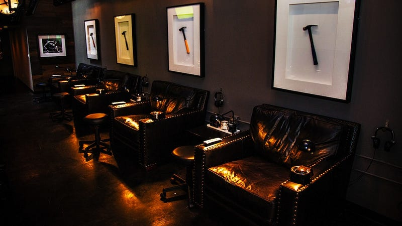 New nail salon for men is the manliest place on earth for 24 hour nail salon atlanta