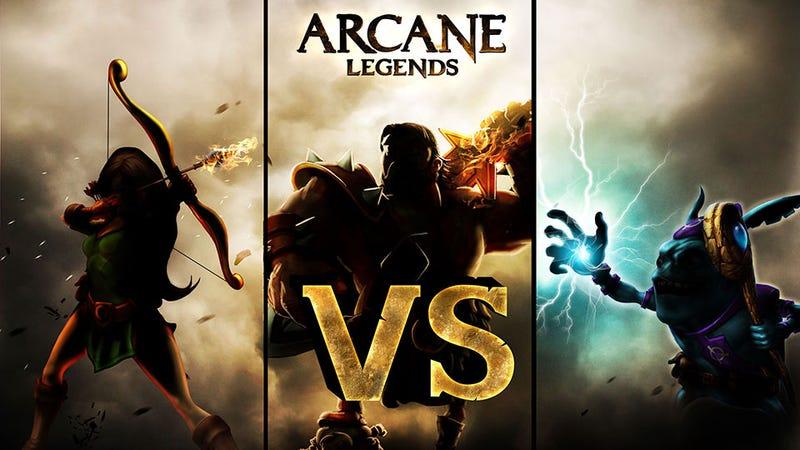 Illustration for article titled Arcane Legends Gets Its First Taste of Player Versus Player Combat