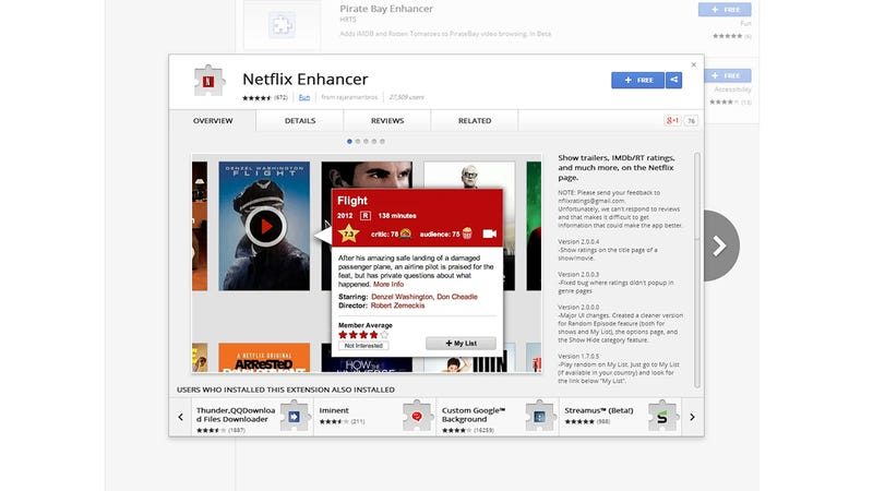 Illustration for article titled Netflix Enhancer: A Simple Extension to Supercharge Your Streaming