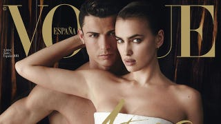 Illustration for article titled Here's Cristiano Ronaldo Butt-Ass Naked On The Cover of Vogue España