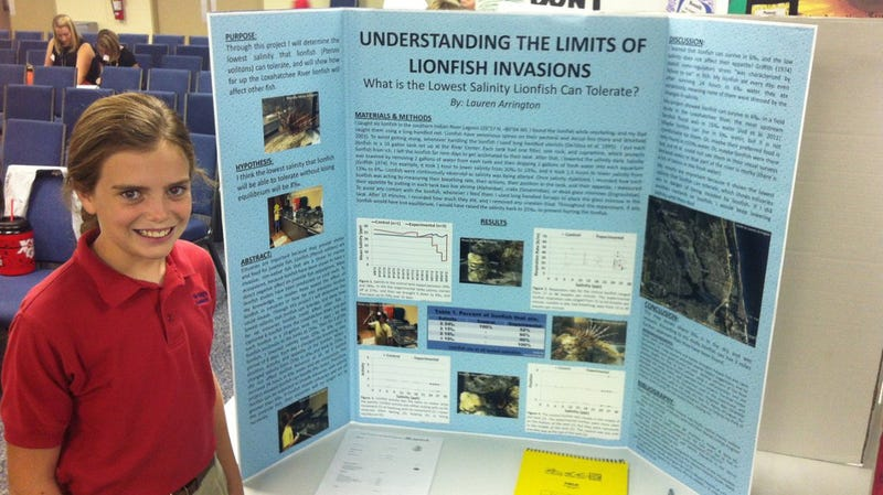 Sixth grader 39 s science fair project rattles ecologists for Fishing science fair projects