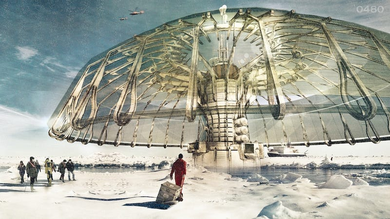 Illustration for article titled Could this incredible engineering project save the polar ice caps?