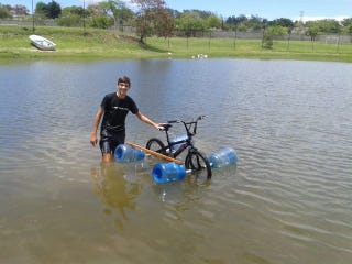 The Amphibious Bike Worked For A Brief Moment