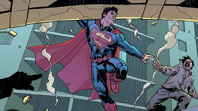 Illustration for article titled Action Comics Annual #1 uses Superman to examine true heroes' ripple effects