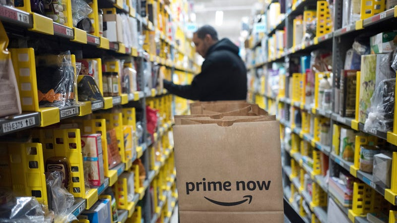 An Amazon Prime warehouse in New York, 2017.