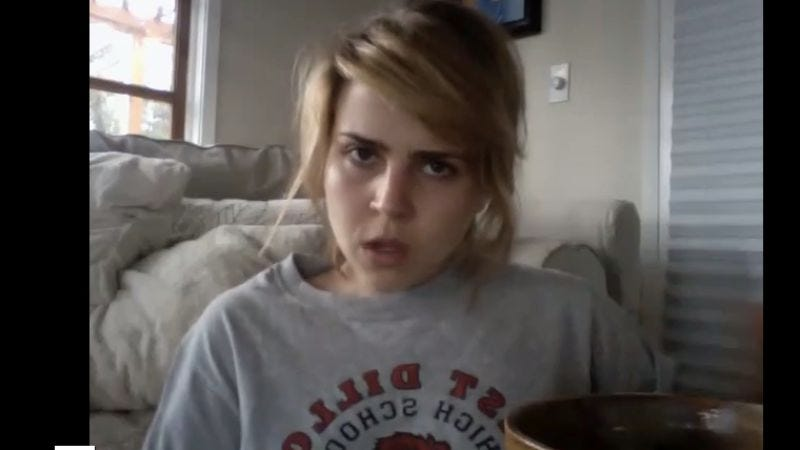 Mae Whitman looks appropriately pissed.