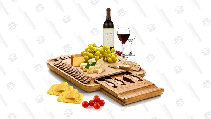 Bambüsi Bamboo Cheese Board With Cutlery | $50 | Amazon