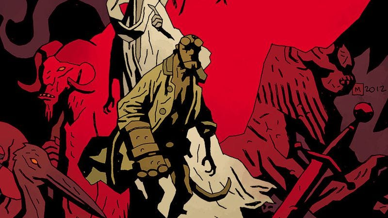 Illustration for article titled Mike Mignola gives a tour of Hellboy In Hell's risky first five issues