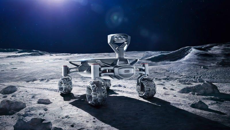 Imagen conceptual del robot Audi Lunar Quattro (PT Scientists)