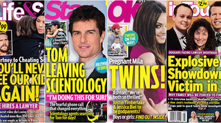 Illustration for article titled This Week In Tabloids: Tom Cruise Is Leaving Scientology, Xenu Is Mad