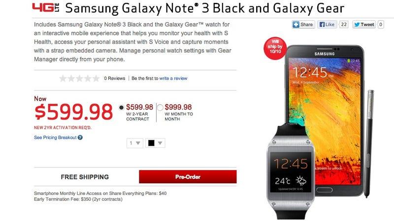 Verizon's Galaxy Note and Gear